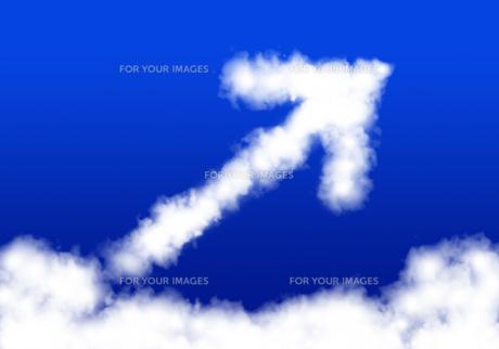 雲の矢印の写真素材 [FYI00422291]