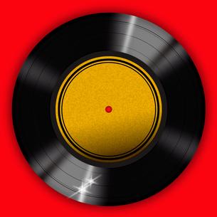 赤背景のレコードの写真素材 [FYI00422314]