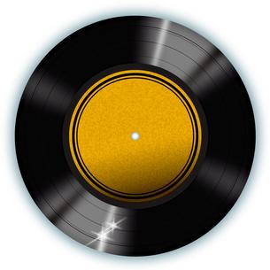 白背景のレコードの写真素材 [FYI00422324]