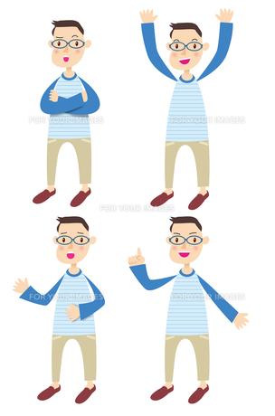 眼鏡をかけた男性の写真素材 [FYI00422331]