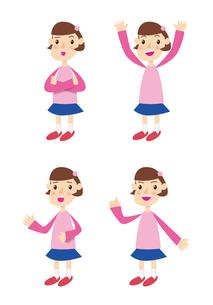 ピンクの服を着た女の子の写真素材 [FYI00422346]