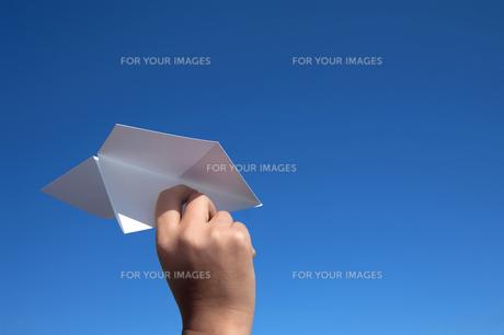 紙飛行機の写真素材 [FYI00422369]