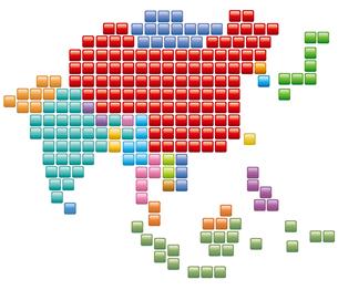 アジア地図の写真素材 [FYI00422371]