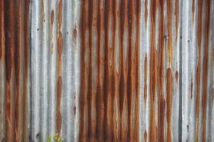 錆びたトタンの写真素材 [FYI00422411]