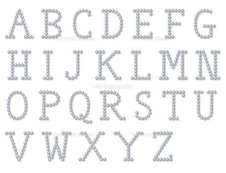 宝石風のアルファベットの写真素材 [FYI00422415]