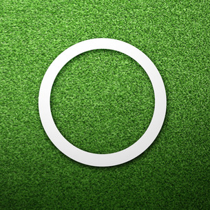 芝生の上のまるの写真素材 [FYI00422422]