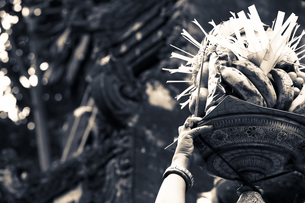バリ島、寺院にての素材 [FYI00422488]