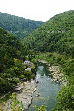 嵐山展望台より保津峡を望むの写真素材 [FYI00422561]