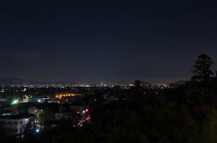 嵐山花灯路 法輪寺舞台からの夜景眺望の写真素材 [FYI00422596]