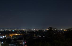 嵐山花灯路 法輪寺舞台からの夜景眺望の写真素材 [FYI00422597]