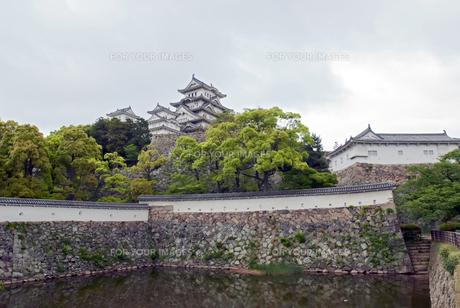 姫路城 三国壕の写真素材 [FYI00422734]