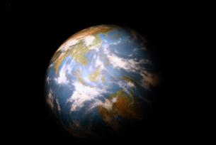月から見た地球の模型の写真素材 [FYI00422822]