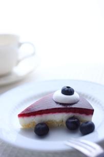 ブルーベリーレアチーズケーキの写真素材 [FYI00422971]