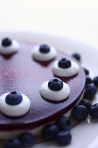 ブルーベリーレアチーズケーキの写真素材 [FYI00422981]