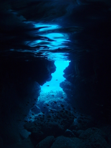 水中洞窟の素材 [FYI00423625]
