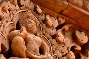 バンテアイ・スレイの彫刻の写真素材 [FYI00424224]