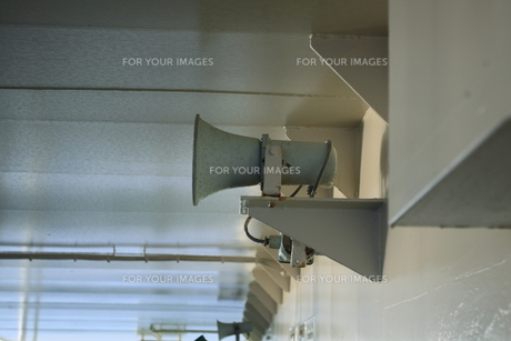船の一部 拡声機の写真素材 [FYI00424444]
