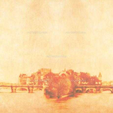 パリ セーヌ川とシテ島の写真素材 [FYI00424863]