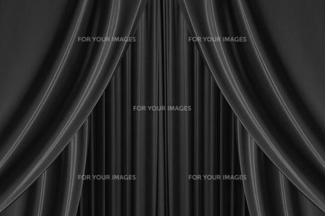 黒色のカーテンの写真素材 [FYI00424968]