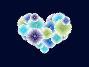 寒色系菊のハートの写真素材 [FYI00425154]
