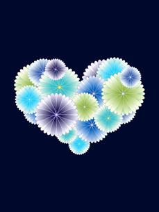 寒色系の菊のハートの写真素材 [FYI00425165]