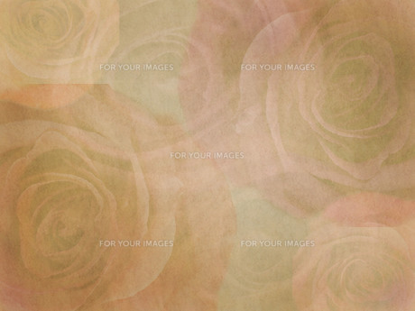 バラ模様の古い紙の写真素材 [FYI00425167]