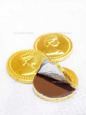 コイン型チョコレートの素材 [FYI00425385]