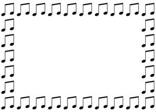 音符のフレームの写真素材 [FYI00425394]
