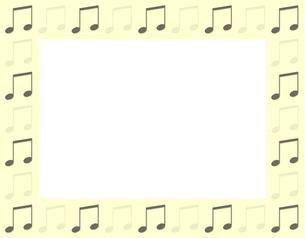 音符のフレームの写真素材 [FYI00425420]