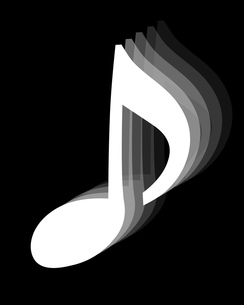 8分音符の写真素材 [FYI00425430]