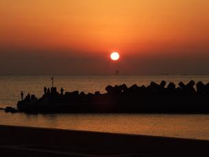 夕陽の写真素材 [FYI00425598]