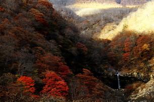 山間の滝の写真素材 [FYI00425691]