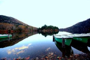 奥日光 湯の湖の風景の写真素材 [FYI00425840]