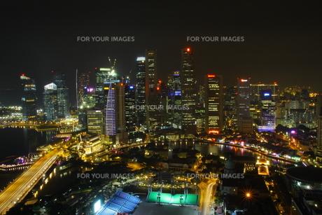 シンガポール夜景の写真素材 [FYI00425930]