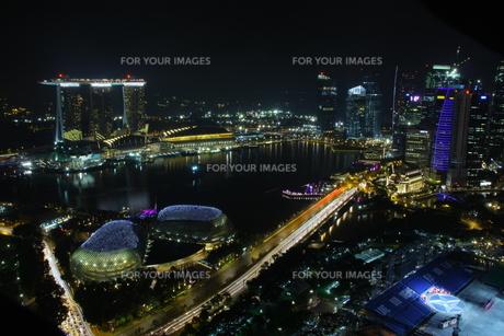 シンガポール夜景の写真素材 [FYI00425932]