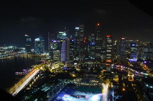 シンガポール夜景の写真素材 [FYI00425933]