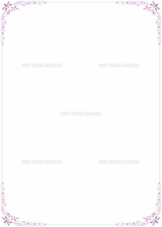 花の飾り罫の素材 [FYI00427184]