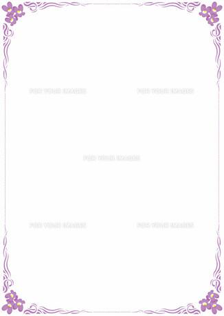 花の飾り罫の素材 [FYI00427188]
