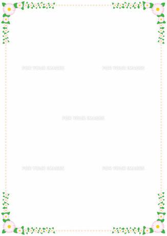 花の飾り罫の素材 [FYI00427189]