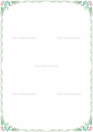 花の飾り罫の素材 [FYI00427203]