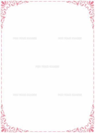 花の飾り罫の素材 [FYI00427204]