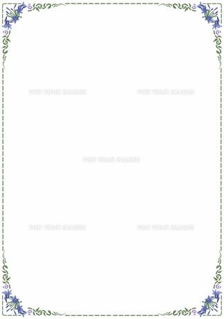 花の飾り罫の素材 [FYI00427208]