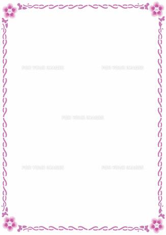 花の飾り罫の素材 [FYI00427211]