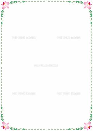 花の飾り罫の素材 [FYI00427216]