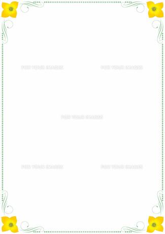 花の飾り罫の素材 [FYI00427222]