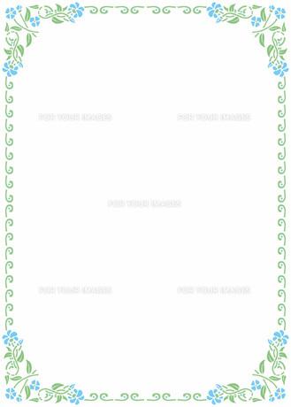 花の飾り罫の素材 [FYI00427223]