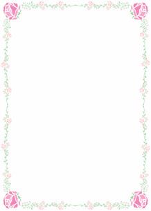 花の飾り罫の素材 [FYI00427227]