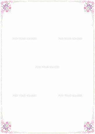 花の飾り罫の素材 [FYI00427228]