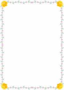 花の飾り罫の素材 [FYI00427234]