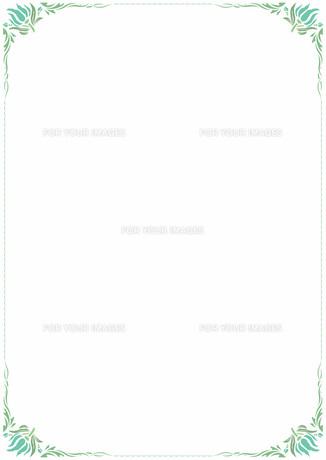 花の飾り罫の素材 [FYI00427235]